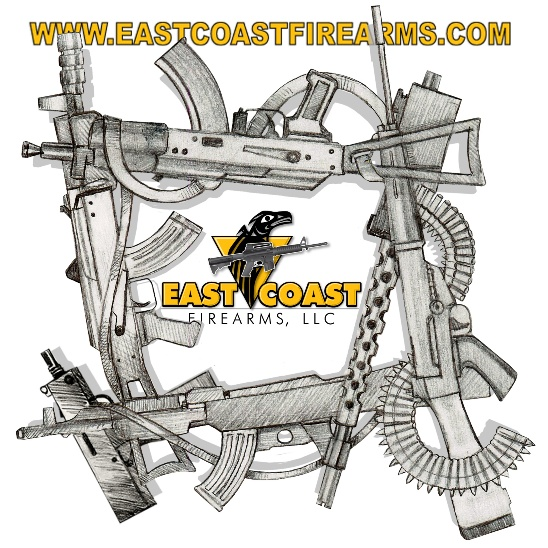 East Coast Firearms Tee Shirt Design